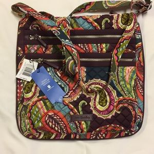 Vera Bradley iconic three zip hipster